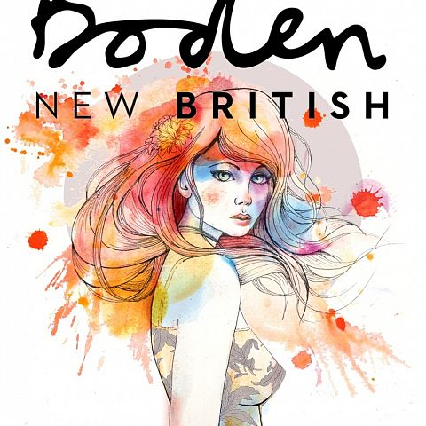 Design for digital summer catalogue cover for Boden