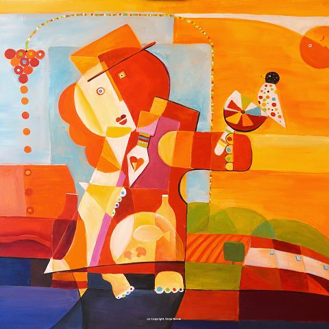 Campo Viejo Story, acrylic on canvas, 100×120 cm, 2016, SOLD